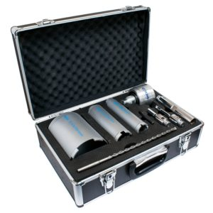 9 PIECE DRY CORE DRILL KIT WITH EXTRACTION UNIT
